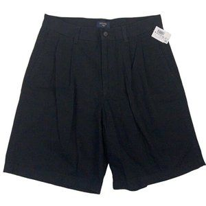 New Dockers Mens Pleated Casual Black Shorts NEW